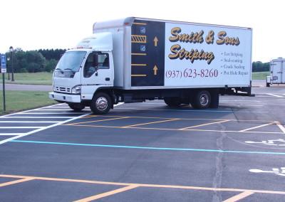 Striping Truck in Centerville