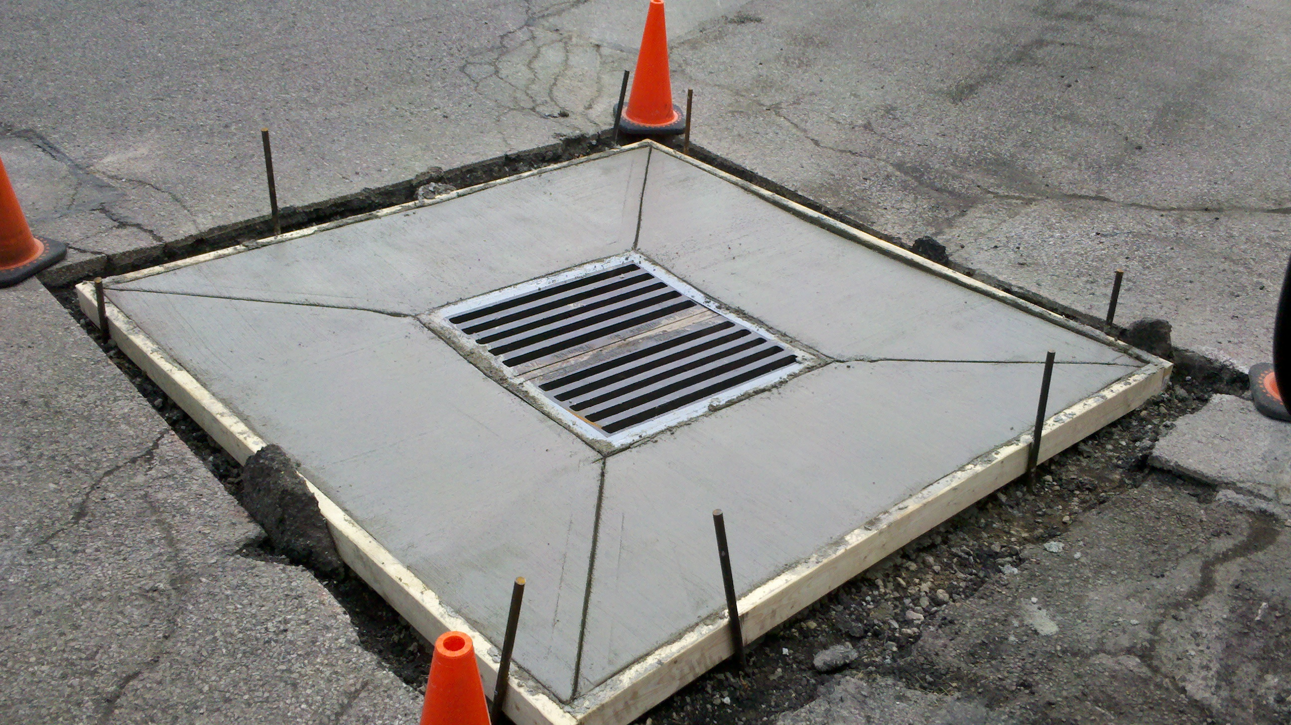 New Concrete Catch Basin Smith And Sons Sealcoating And